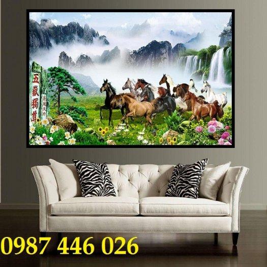 Gạch tranh ngựa ốp tường đẹp HP98906