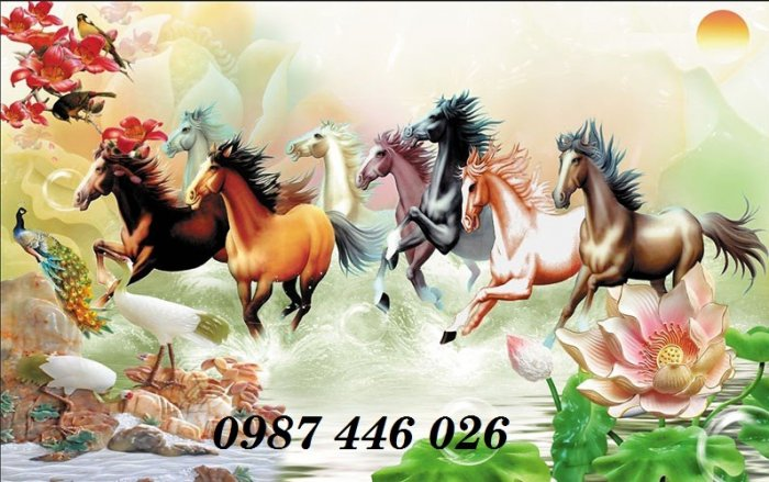 Gạch tranh ngựa ốp tường đẹp HP98901