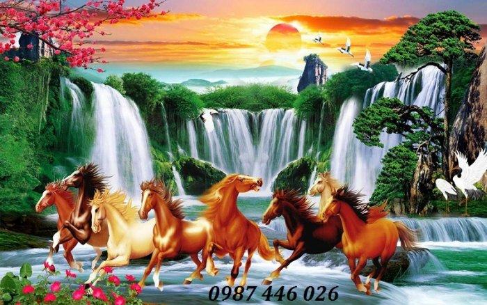Gạch tranh ngựa ốp tường đẹp HP98900