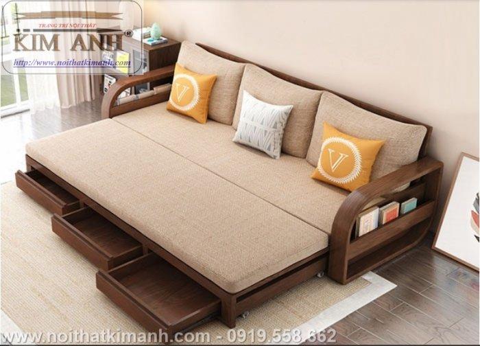 Sofa giường gỗ xu hướng mới cho phòng khách hiện đại tại Dĩ An, Bình Dương9