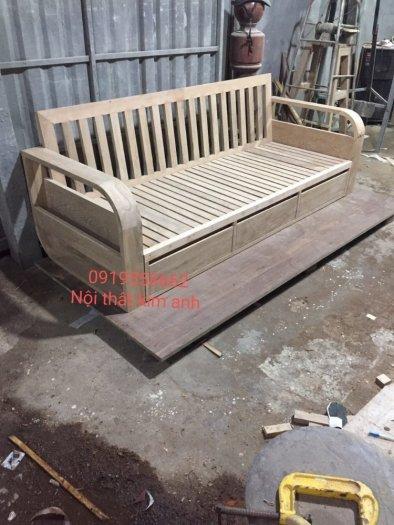Sofa giường gỗ xu hướng mới cho phòng khách hiện đại tại Dĩ An, Bình Dương7
