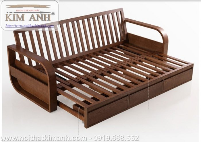 Sofa giường gỗ xu hướng mới cho phòng khách hiện đại tại Dĩ An, Bình Dương6
