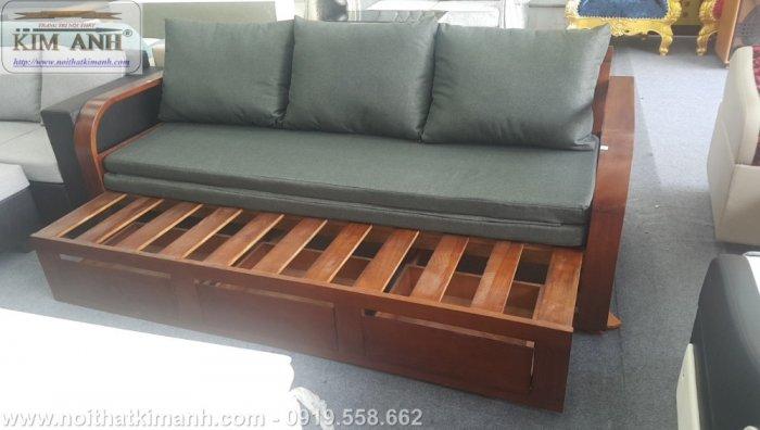 Sofa giường gỗ xu hướng mới cho phòng khách hiện đại tại Dĩ An, Bình Dương3
