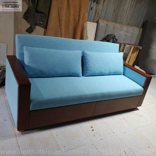 Sofa giường gỗ xu hướng mới cho phòng khách hiện đại tại Dĩ An, Bình Dương1