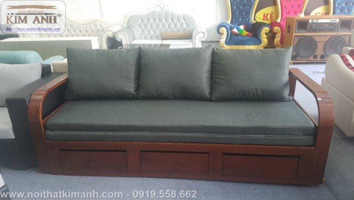 Sofa giường gỗ xu hướng mới cho phòng khách hiện đại tại Dĩ An, Bình Dương0