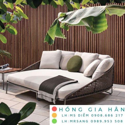 Sofa mây nhựa Hồng Gia Hân SM3390
