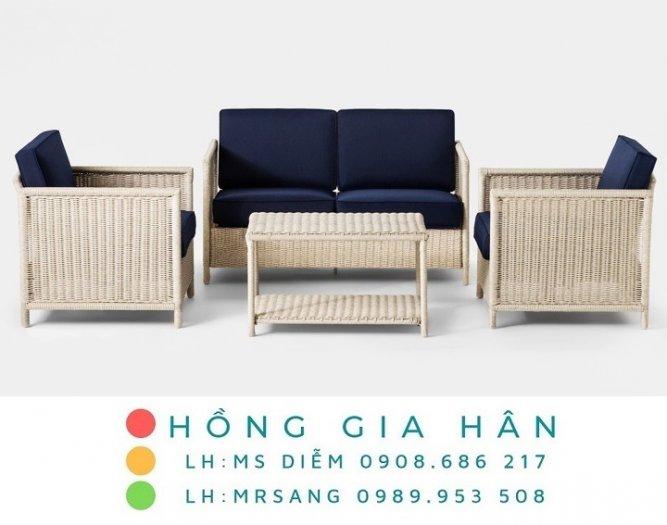 Sofa mây nhựa Hồng Gia Hân SM3410
