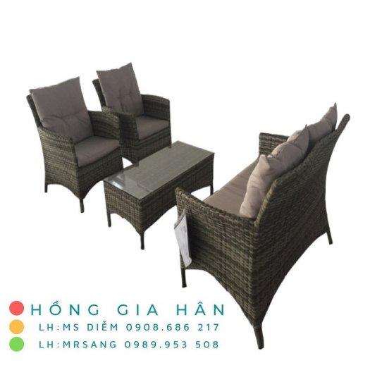 Sofa mây nhựa Hồng Gia Hân SM3430