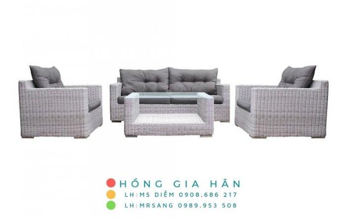 Sofa mây nhựa Hồng Gia Hân SM3440