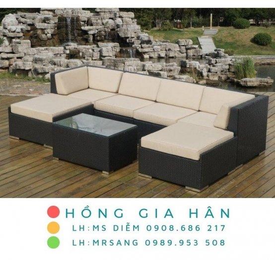 Sofa mây nhựa Hồng Gia Hân SM3450