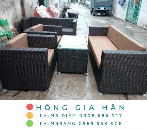 Sofa mây nhựa Hồng Gia Hân SM3460