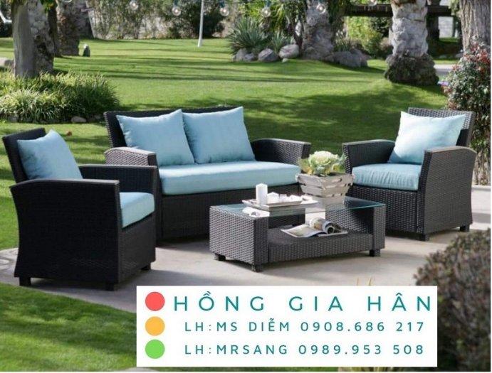 Sofa mây nhựa Hồng Gia Hân SM3470