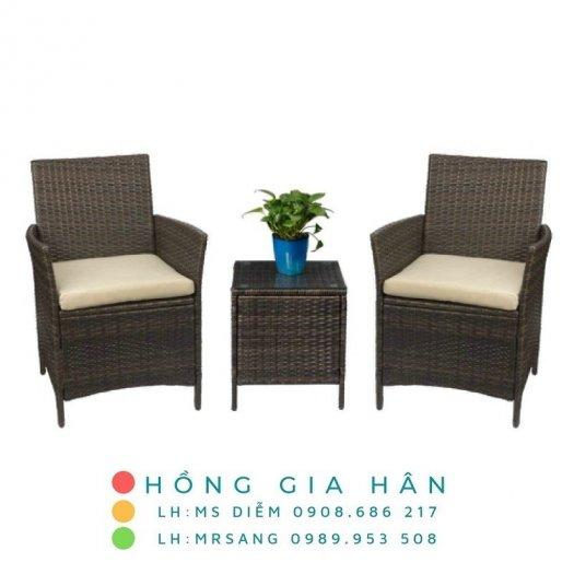 Sofa mây nhựa Hồng Gia Hân SM3490