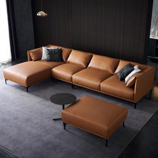 Các mẫu sofa góc chữ L bằng da  cho phòng khách đẹp Bình Dương7