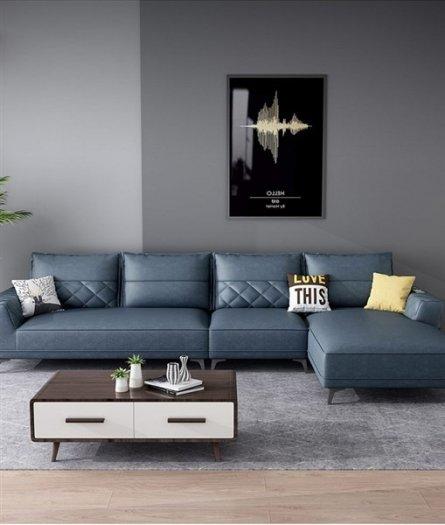 Các mẫu sofa góc chữ L bằng da  cho phòng khách đẹp Bình Dương6