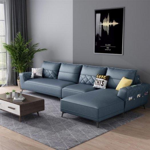 Các mẫu sofa góc chữ L bằng da  cho phòng khách đẹp Bình Dương5