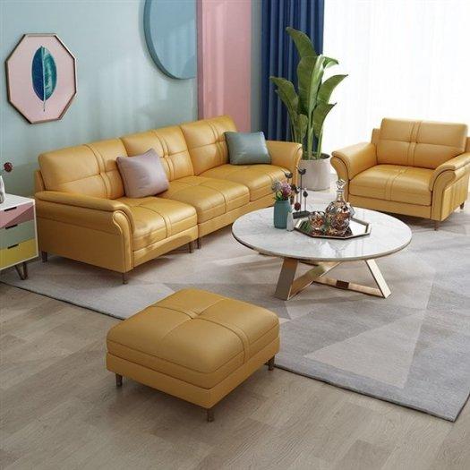 Các mẫu sofa góc chữ L bằng da  cho phòng khách đẹp Bình Dương4