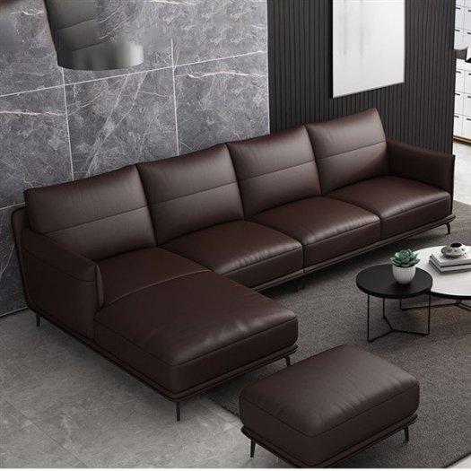 Các mẫu sofa góc chữ L bằng da  cho phòng khách đẹp Bình Dương2