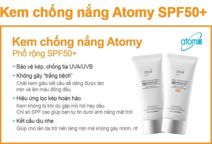 Kem chống nắng Atomy Sunscreen SPF 50+/PA+++ Tone da ( Be)0