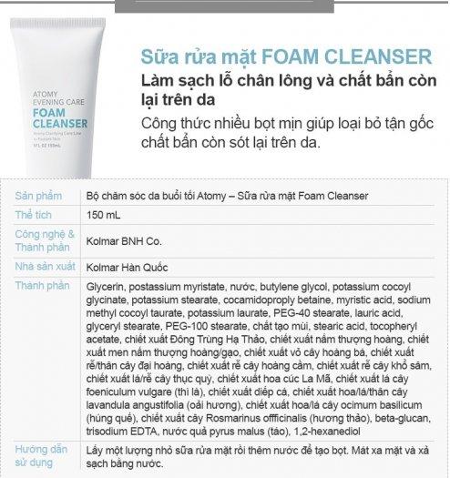 Sữa rửa mặt Atomy Foam Cleanser1