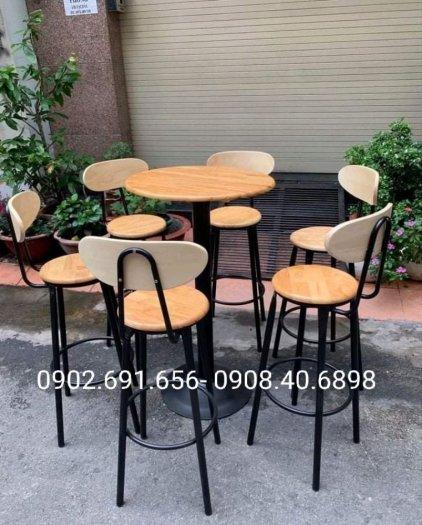 Bộ bàn ghế bar cafe 4 ghế 1 bàn0