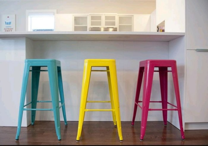 Ghế bar tolix nhiều màu sang trọng1