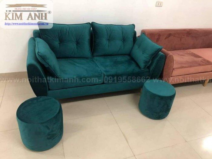 Top 10 Ghế Sofa Nhung Đẹp Đột Phá Phong Cách Màu Sắc3