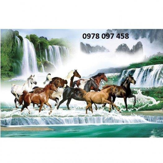 Tranh ngựa đẹp - tranh gạch3