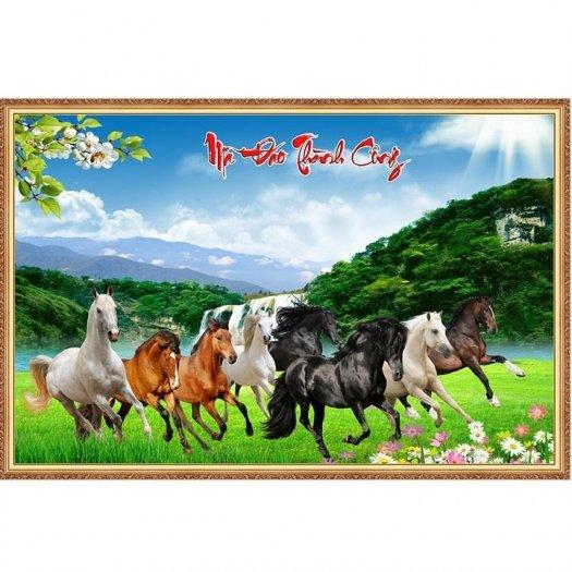 Tranh ngựa đẹp - tranh gạch2