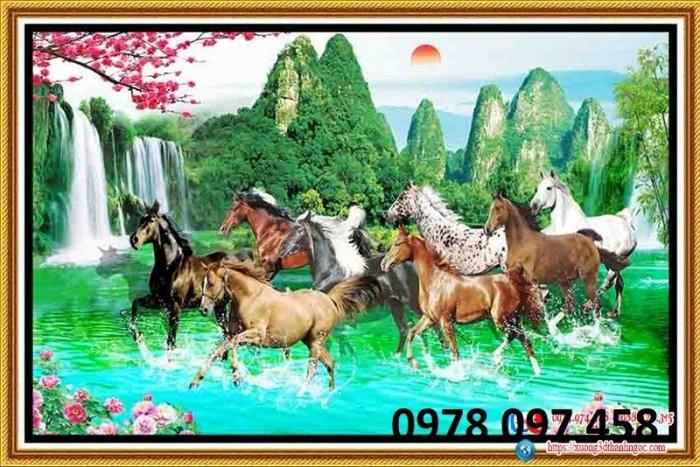 Tranh ngựa đẹp - tranh gạch1
