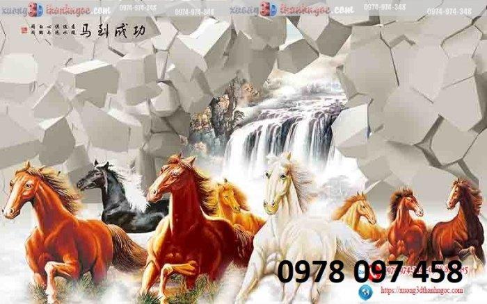 Tranh ngựa đẹp - tranh gạch0