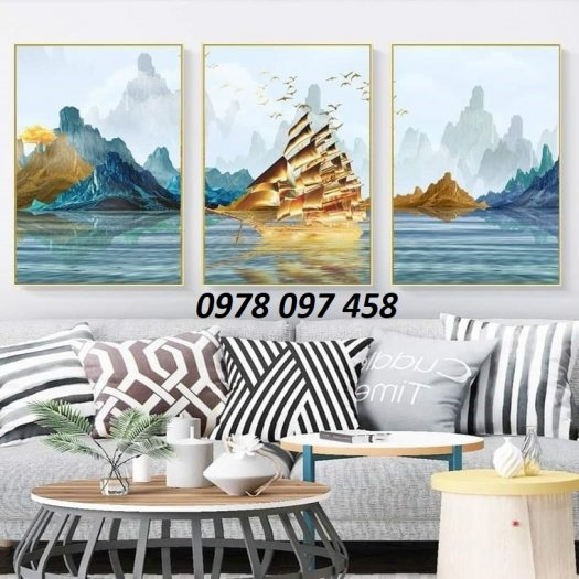 Thuyền buồm - tranh gạch phòng khách1