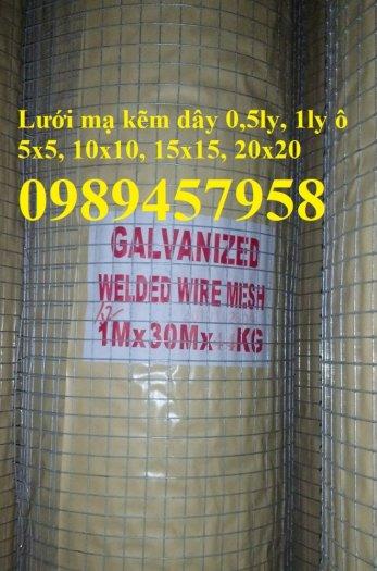 Lưới thép dây 1ly ô 10x10, 20x20, Lưới hàn bọc nhựa, Lưới hàn mạ kẽm12