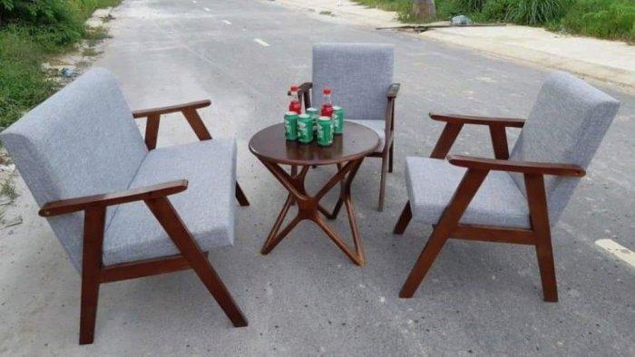 Bộ bàn ghế gỗ  sofa cafe0