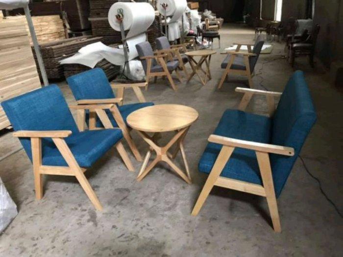 Bộ bàn ghế gỗ  sofa cafe1