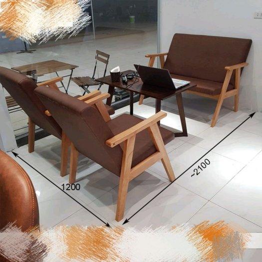 Bộ bàn ghế gỗ  sofa cafe2