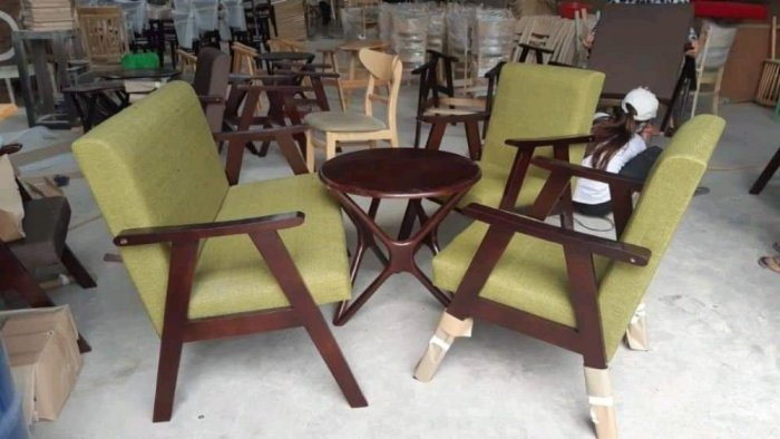 Bộ bàn ghế gỗ  sofa cafe7