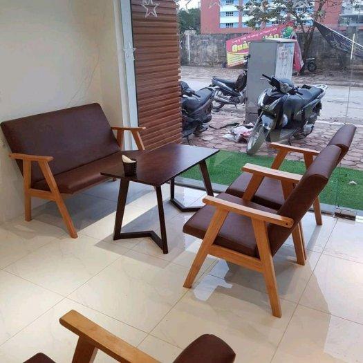 Bộ bàn ghế gỗ  sofa cafe5