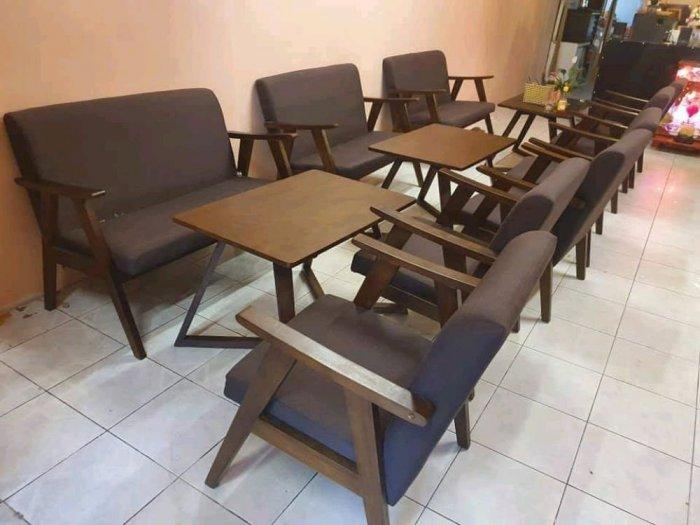 Bộ bàn ghế gỗ  sofa cafe6