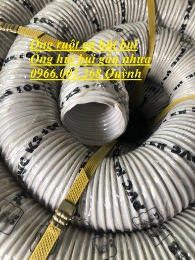 Ống hút bụi gân nhựa , ống gân nhựa xoắn, ống ruột gà phi 150 mm , cuộn dài 30m7
