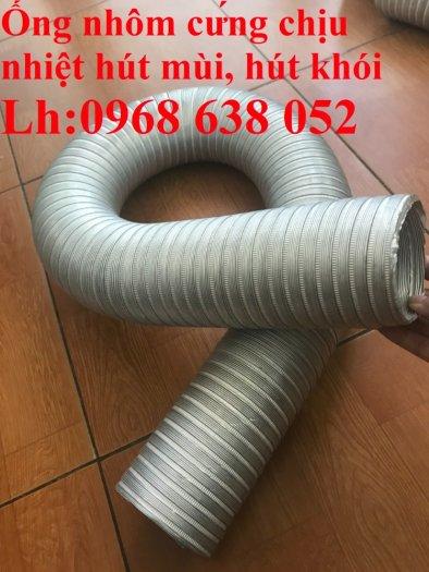 Mua ống gió nhôm nhún D200 dẫn khí nóng máy hơi, máy sấy chịu nhiệt độ cao