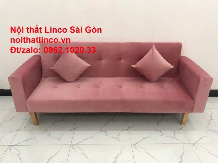 Bộ ghế sofa giường giá rẻ | Salong sopha màu hồng phấn đẹp phòng khách4