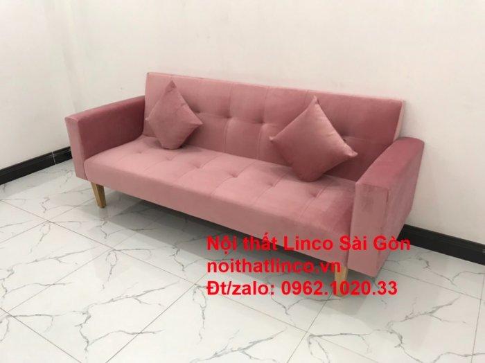 Bộ ghế sofa giường giá rẻ | Salong sopha màu hồng phấn đẹp phòng khách3