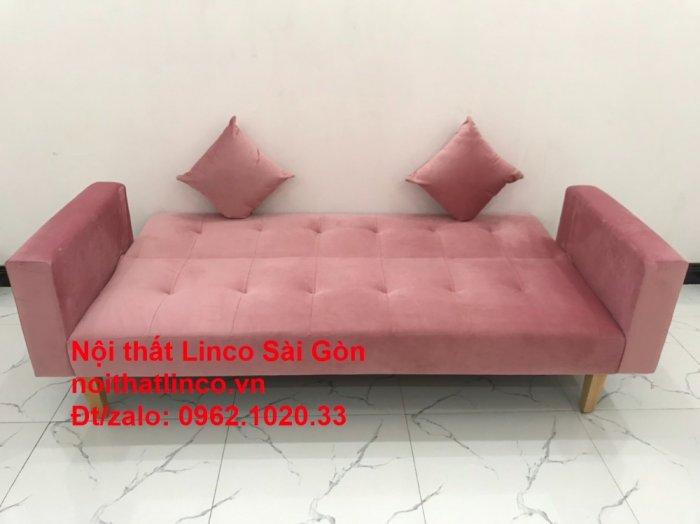 Bộ ghế sofa giường giá rẻ | Salong sopha màu hồng phấn đẹp phòng khách1