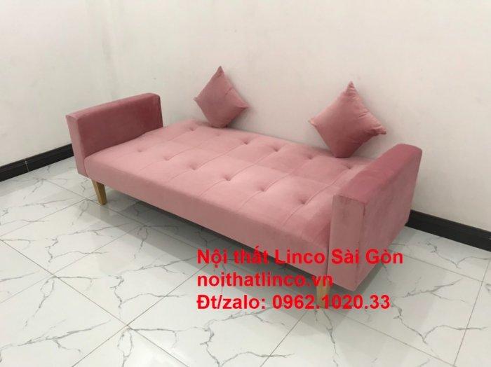 Bộ ghế sofa giường giá rẻ | Salong sopha màu hồng phấn đẹp phòng khách0