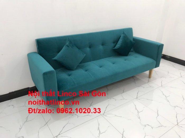Bộ ghế salon sopha giường rẻ   Sofa màu xanh lá cây đậm phòng khách2