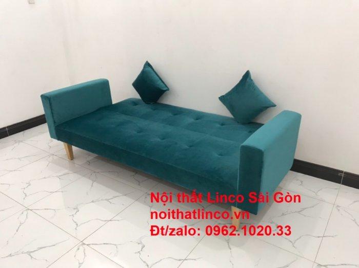 Bộ ghế salon sopha giường rẻ   Sofa màu xanh lá cây đậm phòng khách0