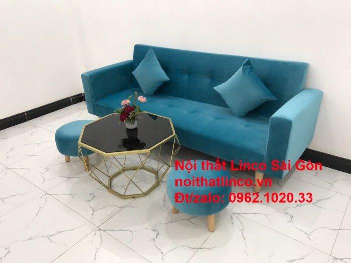 Bộ ghế sofa giường giá rẻ | salon xanh nước biển đẹp phòng khách12