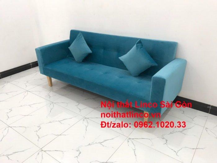Bộ ghế sofa giường giá rẻ | salon xanh nước biển đẹp phòng khách3