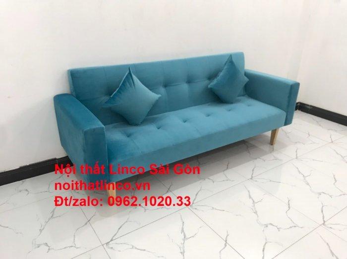 Bộ ghế sofa giường giá rẻ | salon xanh nước biển đẹp phòng khách2